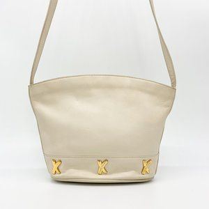 VINTAGE Paloma Picasso Leather Gold 'X' Crossbody